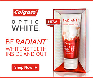 Colgate Optic White Banner