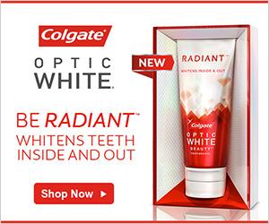 Colgate Optic White Banner