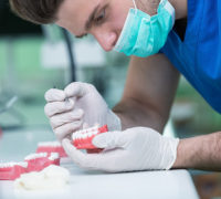 fixing dental dentures