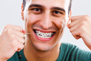 correct flossing